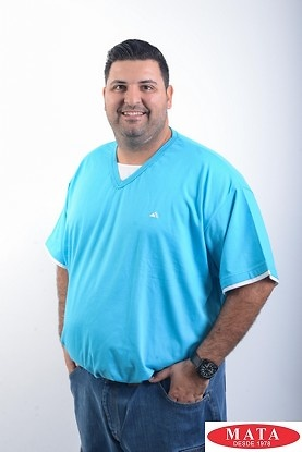 Camiseta hombre tallas grandes azul 04498
