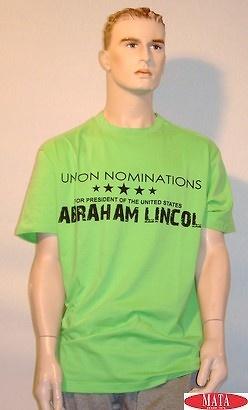 Camiseta verde tallas grandes 10334