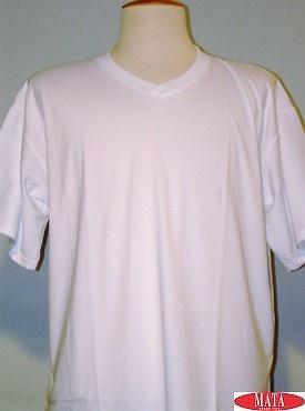 Camiseta hombre BLANCO tallas grandes 01143
