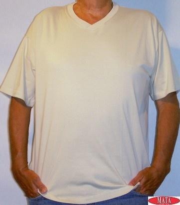 Camiseta hombre BEIG tallas grandes 01143