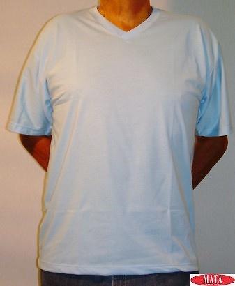 Camiseta hombre celeste tallas grandes 01143