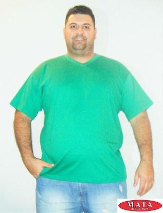 Camiseta hombre verde tallas grandes 01143