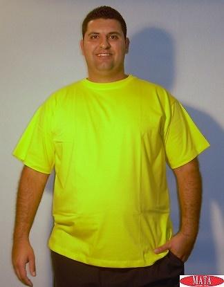 Camiseta hombre amarillo 01144