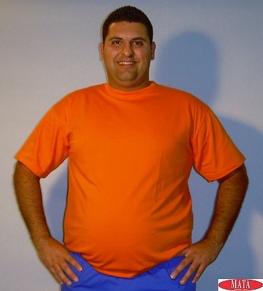Camiseta hombre naranja tallas grandes 01144