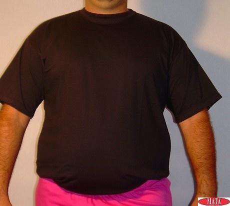 Camiseta hombre negro tallas grandes 01144