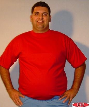 Camiseta hombre rojo tallas grandes 01144