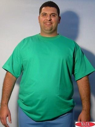 Camiseta hombre verde tallas grandes 01144