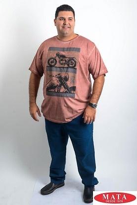 Camiseta hombre tallas grandes ocre 19676