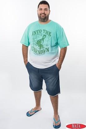 Camiseta hombre verde 20001