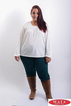Camiseta mujer tallas grandes beig19298