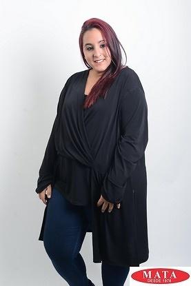 Camiseta mujer tallas grandes negro 19543