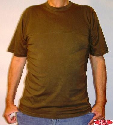 Camiseta hombre verde tallas grandes 07408