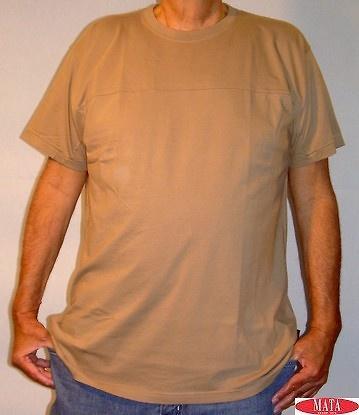 Camiseta tallas grandes hombre marrón 07408