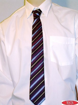 Corbata hombre tallas grandes azul rayas 09626