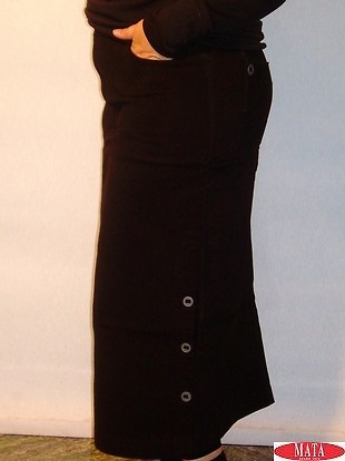 Falda mujer negro tallas grandes 03571