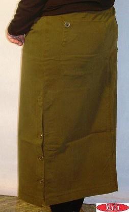 Falda mujer verde tallas grandes 03571