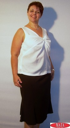 Falda mujer negro tallas grandes 05494