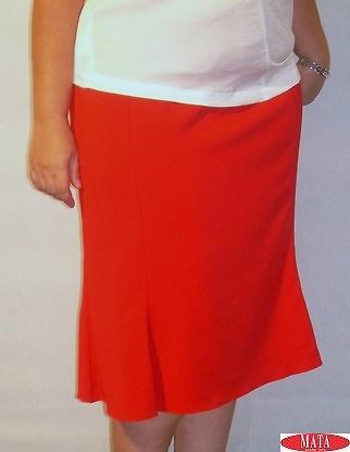 Falda mujer rojo tallas grandes 05494