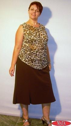 Falda mujer marrón tallas grandes 05494