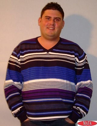 Jersey tallas grandes azul hombre 12400