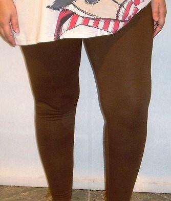 Legging marrón mujer tallas grandes 10716