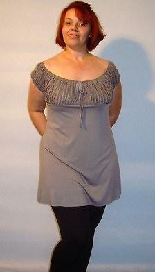 Legging negro mujer tallas grandes 10716 y camiseta vison 10732