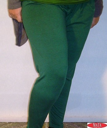 Legging mujer verde tallas grandes 10716