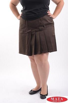 Minifalda mujer marrón tallas grandes 08906