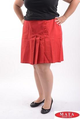 Minifalda mujer tallas grandes rojo 08906