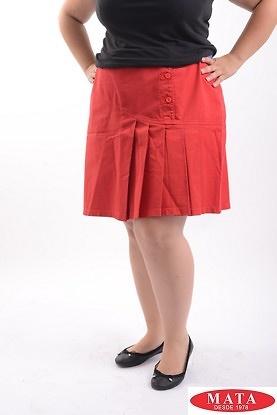 Minifalda mujer rojo 08906