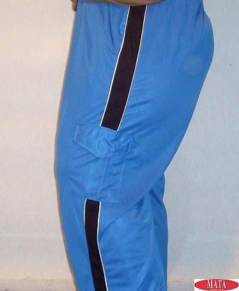 Pantalón hombre azul tallas grandes 07823