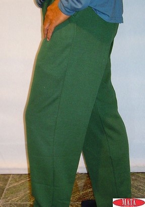 Pantalón hombre verde tallas grandes 11310