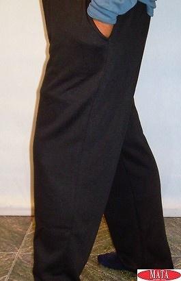 Pantalón chándal hombre tallas grandes negro 11310