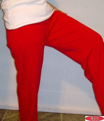 Pantalón rojo mujer tallas grandes 11539