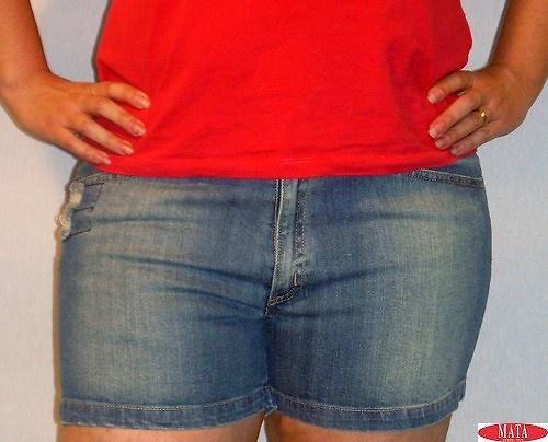 Pantalón corto VAQUERO OSCURO tallas grandes 11072