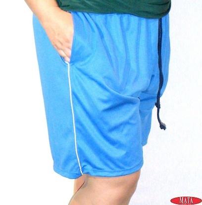 Pantalón hombre azul tallas grandes 05714