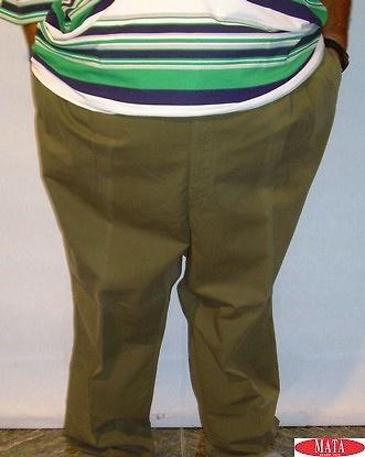 Pantalón hombre verde tallas grandes 03269