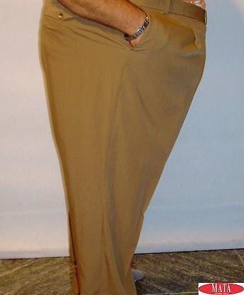 Pantalón hombre ocre tallas grandes 12328