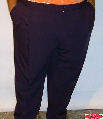 Pantalón azul marino tallas grandes 12328
