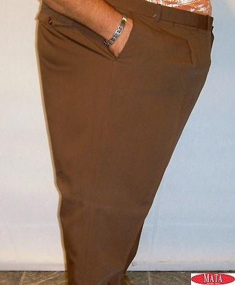 Pantalón chocolate tallas grandes 12328