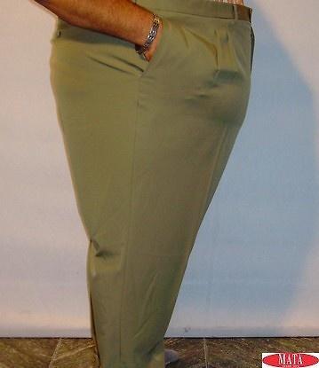 Pantalón hombre verde tallas grandes 12328