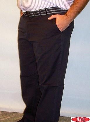 Pantalón tallas grandes hombre azul marino 12636