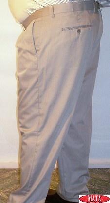 Pantalón hombre beig tallas grandes 13853
