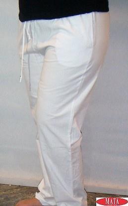 Pantalón blanco tallas grandes 14773