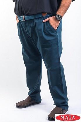 Pantalon hombres tallas grandes petroleo 15259