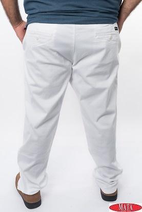 Pantalón hombre blanco 15259