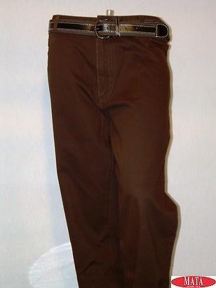 Pantalón hombre marrón 02672