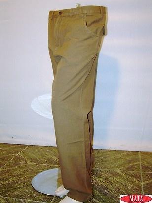 Pantalón tallas grandes hombre marrón 07657