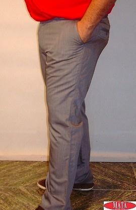 Pantalón hombre gris tallas grandes 13848