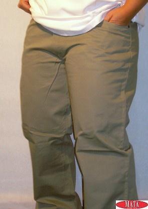 Pantalón hombre verde tallas grandes 02672